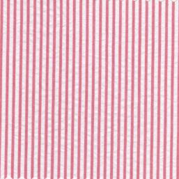 100% Cotton Seersucker Fabric | Striped Seersucker Fabric - Raspberry