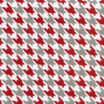 Red and Grey Fabric
