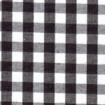 "Black Gingham Fabric: 1/4"" - Wholesale Cotton Fabric"