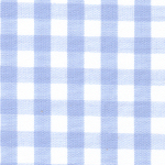 Blue Gingham Fabric - Wholesale Cotton Fabric - 1/4""