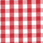 "Berry Red Gingham Fabric - 1/4"" Check 