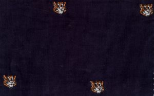 Embroidered Corduroy Fabric - Tiger | Tiger Fabric