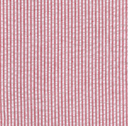 Mini Striped Seersucker Fabric - Red | Red Seersucker Fabric