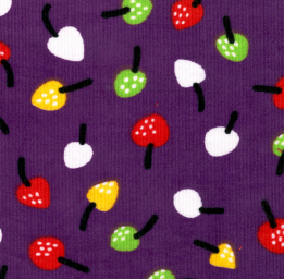 Fruit Corduroy Fabric - CD8 Grape | Corduroy Fabric Wholesale
