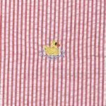 Yellow Duck Fabric - Embroidered Seersucker Fabric | Duck Pattern Fabric