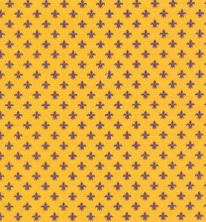 Purple and Gold Fleur De Lis Fabric | Fleur de Lis Pattern Fabric