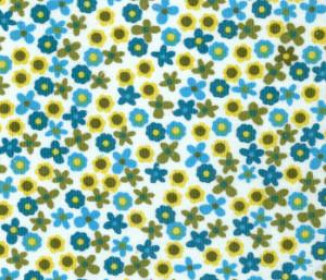 Floral Corduroy Fabric - Blue/Green/Yellow | Corduroy Fabric Wholesale