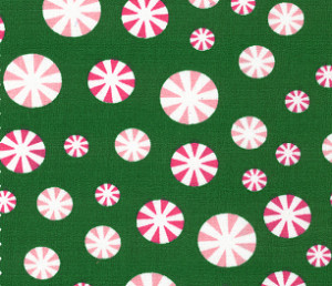 Peppermint Candy Fabric | Christmas Candy Fabric - Print #1952