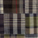 Cotton Patchwork Fabric: Green & Navy | Patchwork Fabrics