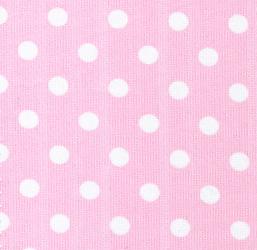 White Dots on Pink - Pique #103   Cotton Pique Fabric Wholesale