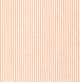 Orange Seersucker Fabric: 1/16″ Stripe| Striped Seersucker Fabric