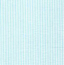 "Aqua Seersucker Fabric | Striped Seersucker Fabric: 1/16"" Width"