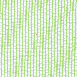 Green Seersucker Fabric | Striped Seersucker Fabric - Lime Green