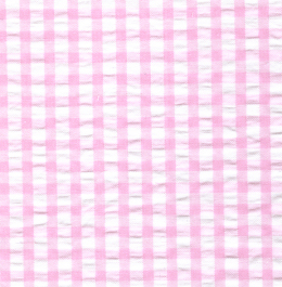 Seersucker Check Fabric - Pink | Pink Seersucker Fabric