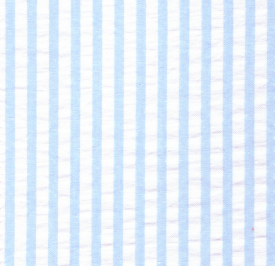 Striped Seersucker Fabric - Aqua Blue | Aqua Seersucker Fabric