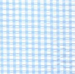 Seersucker Check Fabric – Aqua Blue | Aqua Seersucker Fabric