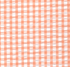 Seersucker Check Fabric - Orange | Orange Seersucker Fabric