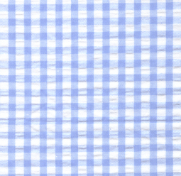 Seersucker Check Fabric - Blue | Blue Seersucker Fabric