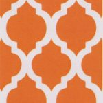 Orange Quatrefoil Fabric | Quatrefoil Fabric - Print #1411