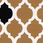 Bronze and Black Quatrefoil Fabric | Quatrefoil Fabric - Print #1456