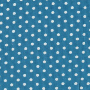 Polka Dot Corduroy Fabric - Turquoise   Turquoise Corduroy Fabric