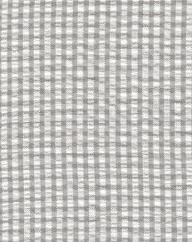 Seersucker Check Fabric - Grey | Grey Seersucker Fabric