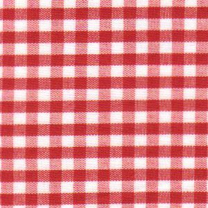 Berry Red Gingham Fabric - 1/8"