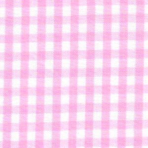 "Bubblegum Pink Gingham Fabric: 1/8"" Check 