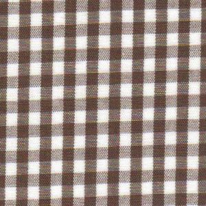 Chocolate Gingham Fabric - 1/8"