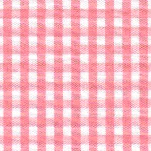 "Coral Gingham Fabric: 1/8"" - Wholesale Cotton Fabric"