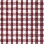"Crimson Gingham Fabric | 100% Cotton Gingham Fabric - 1/8"" Check"