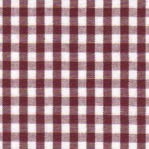 "Crimson Gingham Fabric | 100% Cotton Gingham Fabric - 1/8"" Check"