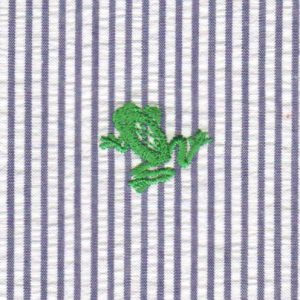 Embroidered Seersucker Fabric - Frog | Frog Fabric