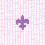 Embroidered Seersucker Fabric - Fleur De Lis | Fleur De Lis Fabric