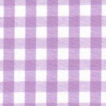 Lilac Gingham Fabric: 1/4"