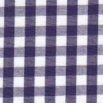 Navy Gingham Fabric 1/4"