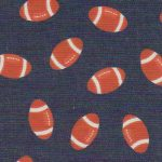 Printed Denim Fabric - Orange Football | Wholesale Denim Fabric