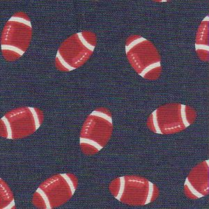 Printed Denim Fabric - Red Football | Denim Fabric Wholesale