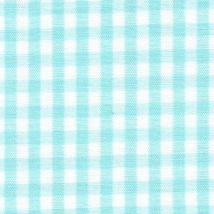 Seafoam Gingham Fabric: 1/8"