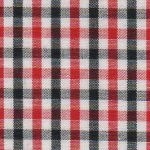 Red and Black Check Fabric - Wholesale Cotton Fabric - T-14