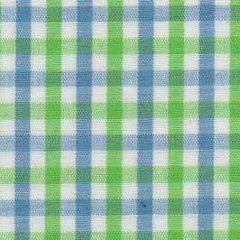 Blue and Green Check Fabric - Wholesale Cotton Fabric - T-21