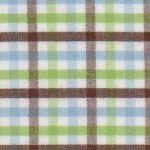 Blue and Green Check Fabric - T/42 | Multi Color Gingham Fabric