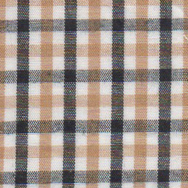 Black and Gold Check Fabric - Wholesale Cotton Fabric - T-57