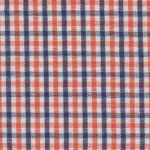 Navy and Orange Check Fabric - 1/4"