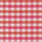 Orange and Raspberry Check Fabric | Multi Color Gingham Fabric