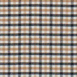 "Black and Gold Check Fabric: 1/4"" - Wholesale Cotton Fabric - T-86"