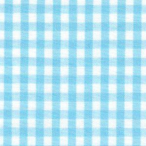 "Taffy Blue Gingham Fabric: 1/8"" Gingham 