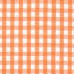 "Tangerine Orange Gingham Fabric: 1/8"" Check 
