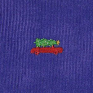 Embroidered Corduroy Fabric | Christmas Corduroy Fabric
