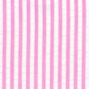 Pink Seersucker Fabric - Wholesale Cotton Fabric - WS-S17
